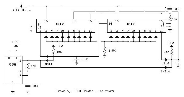 18 stage led sequencer circuit