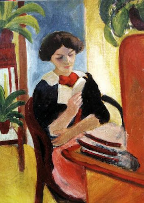 Auguste Macke (1887-1914) Reading Elisabeth