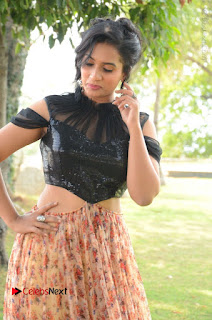 Actress Chetana Uttej Stills in Floral Long Skirt at Pichiga Nachav Movie Press Meet  0029.JPG