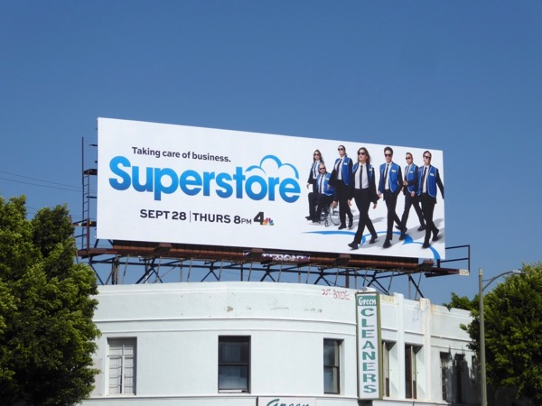 Superstore Reservoir Dogs homage billboard