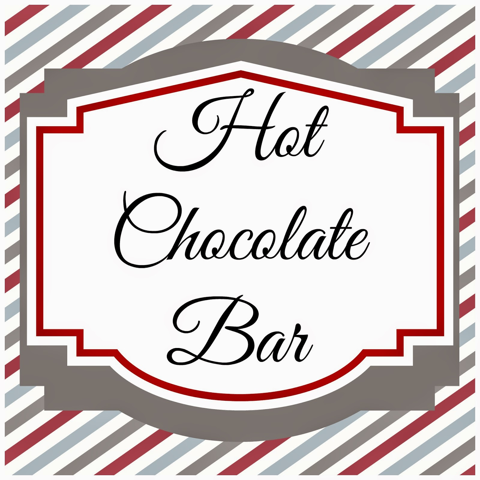 Hot Chocolate Bar Free Printables Written By Emilee