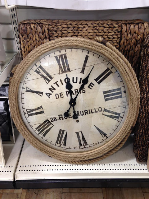 {Let's Go Shopping} HomeGoods Clock