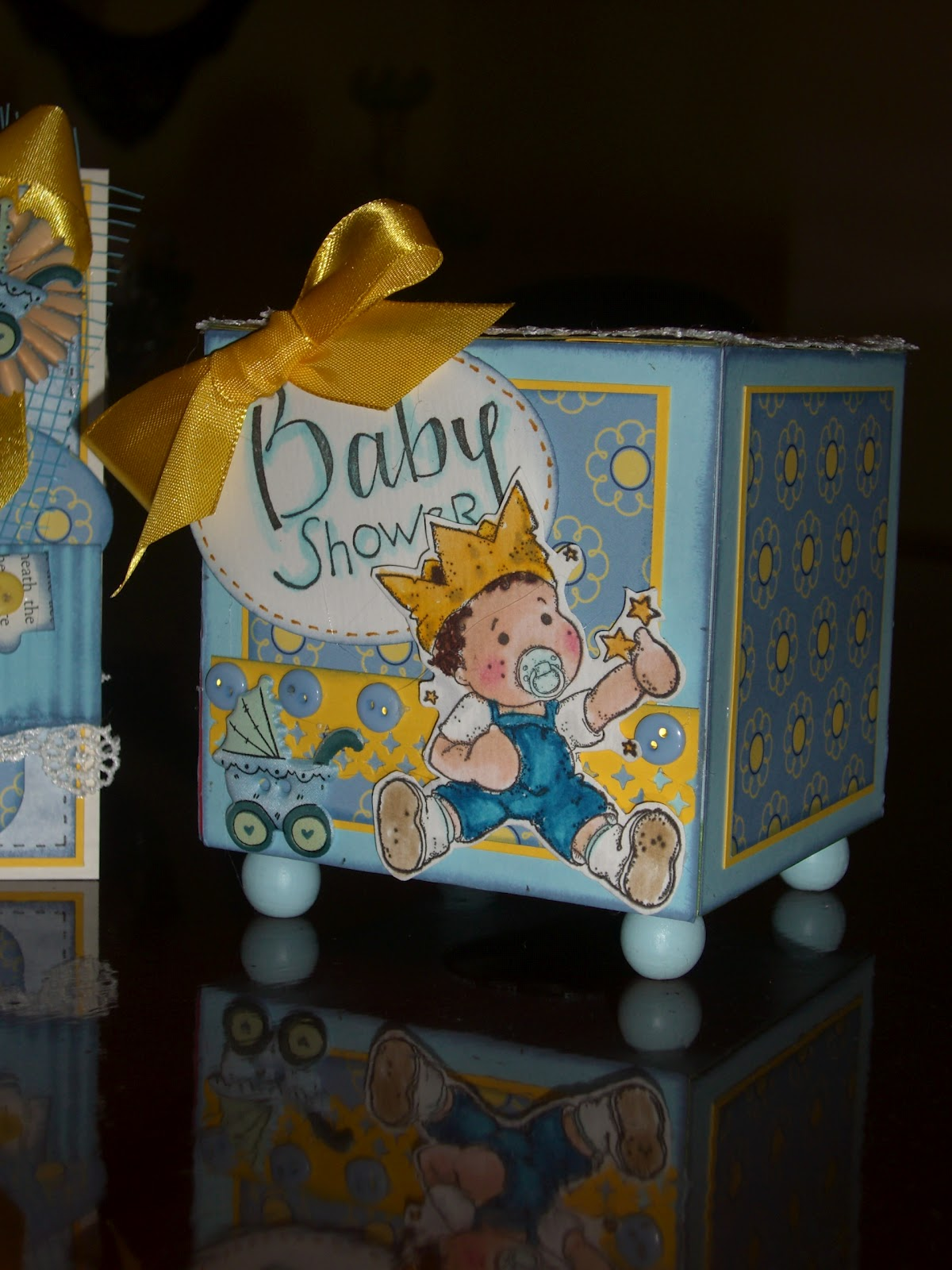 Cards By Mark: Baby shower money box