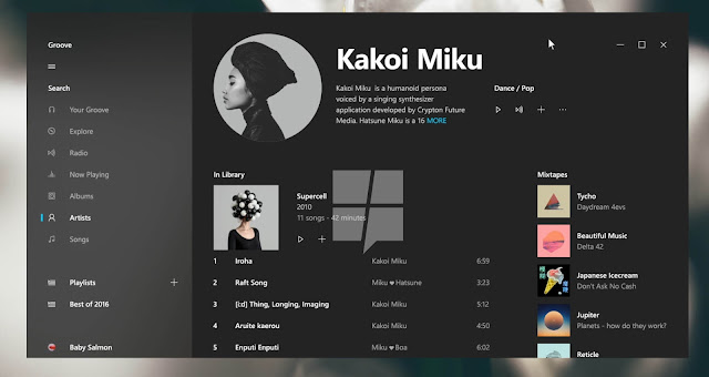 Tampilan UI Design terbaru Windows 10