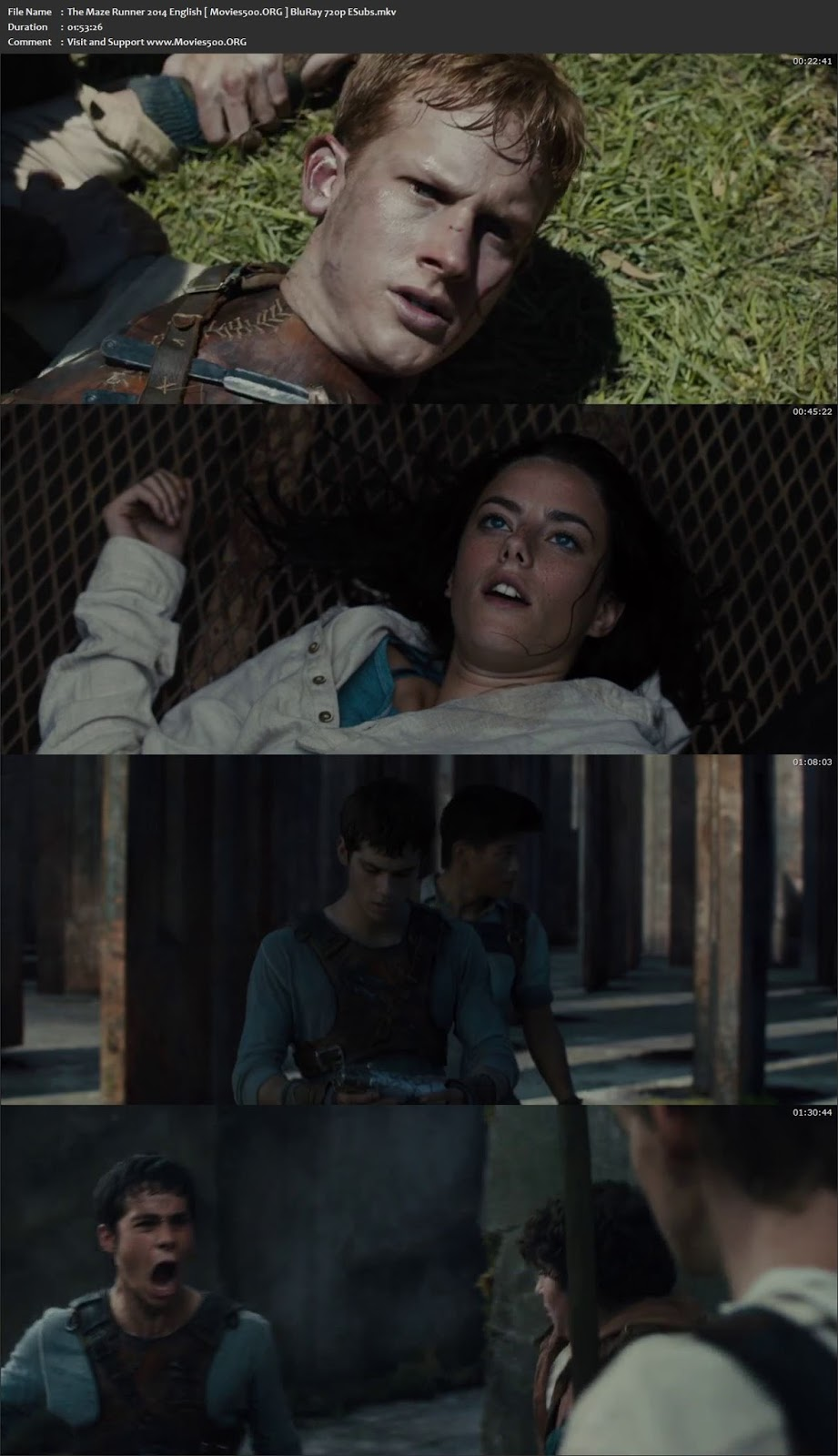 The Maze Runner 2014 English BluRay 720p ESubs at movies500.site
