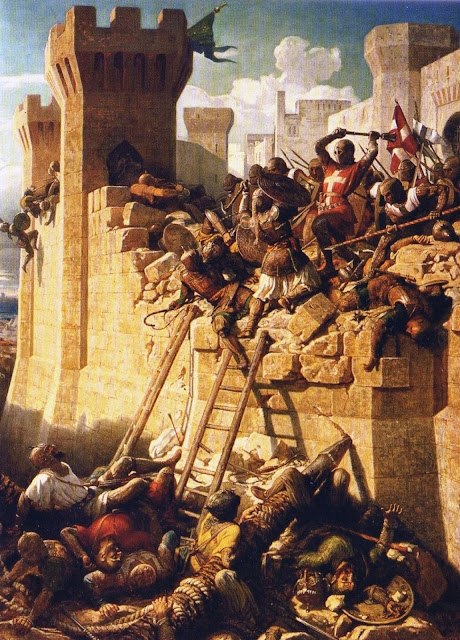 The Siege of Acre by Dominique Papety (circa 1840)