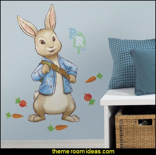 PETER RABBIT GiAnT Wall Decals Bunny Nursery Baby Animals Room Decor Stickers