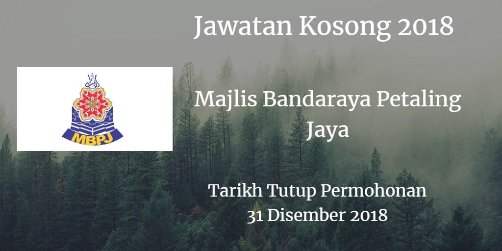 Jawatan Kosong MBPJ 31 Disember 2018