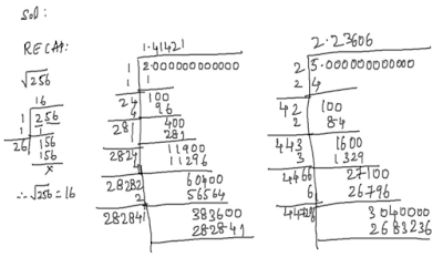 irrational numbers examples