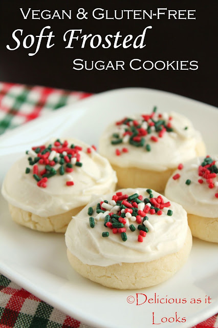Vegan & Gluten-Free Soft Frosted Sugar Cookies  |  Delicious as it Looks