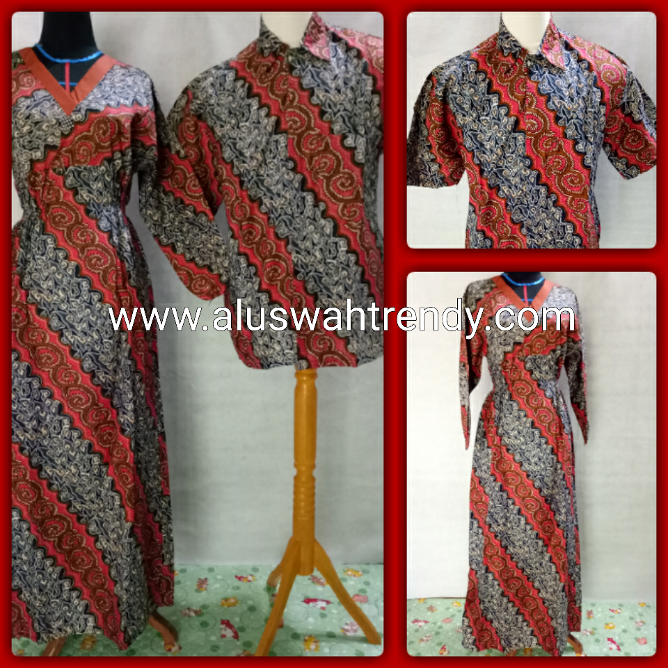 Batik Sarimbit 010 Kemeja Gamis