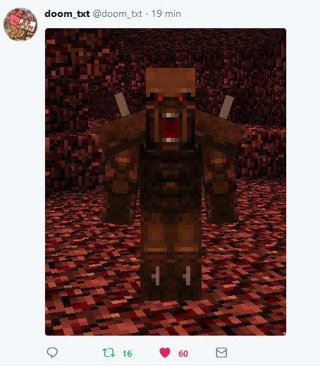 Imp quase perfeito no Minecraft