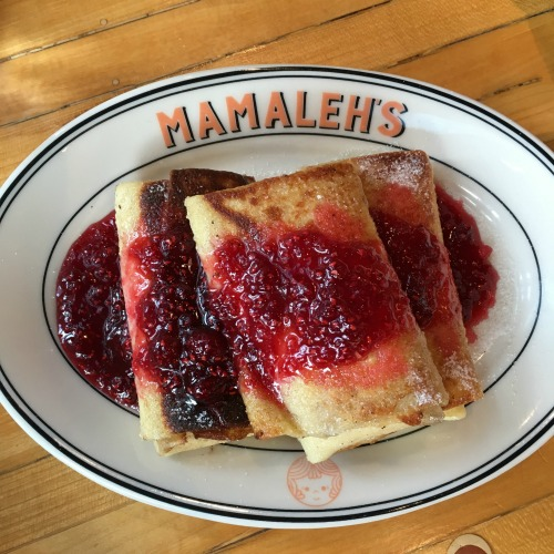 Mamaleh's Cambridge Jewish deli blintzes