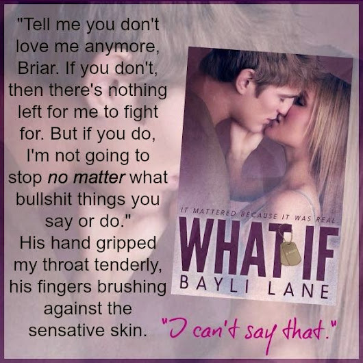 Review Tour: What If by Bayli Lane