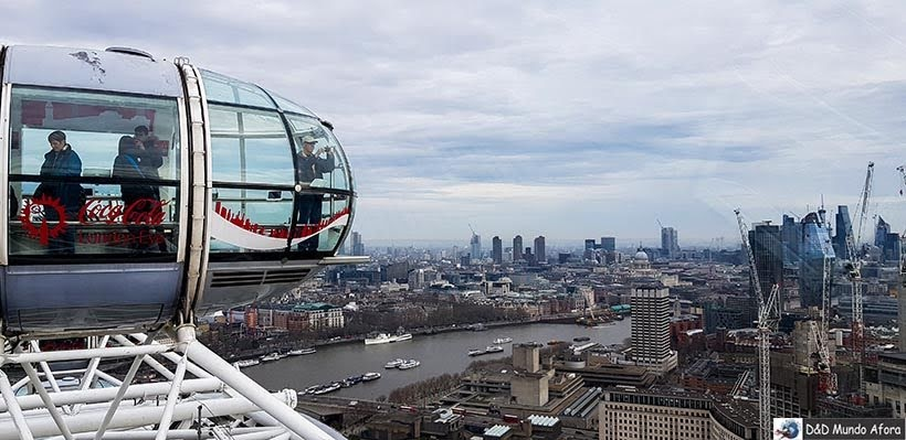 Vista da London Eye: como visitar a roda-gigante de Londres