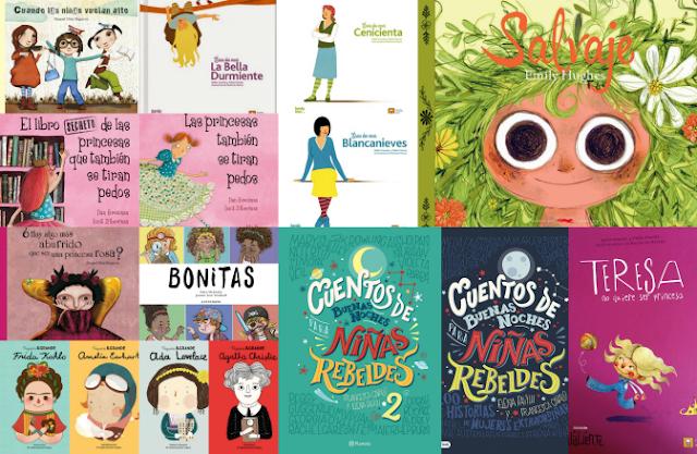 selección de libros para niñas feministas y empoderadas