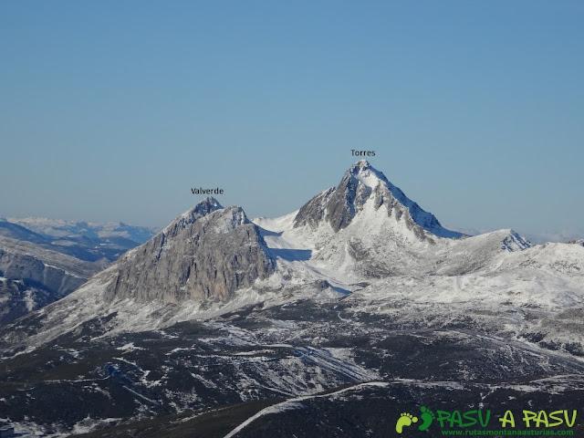 Pico Torres y Valverde desde el San Justo