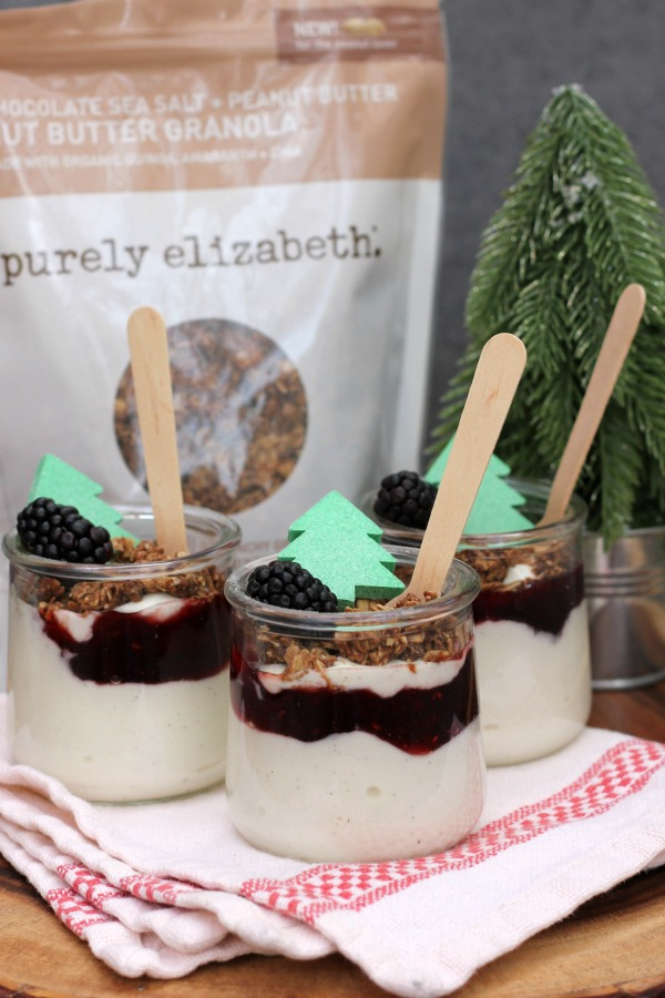 Peanut Butter and Jelly Yogurt Parfaits