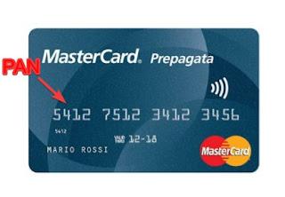 Numero carta di credito