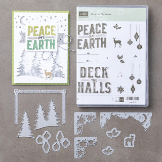 Stampin' Up! UK Independent  Demonstrator Susan Simpson, Craftyduckydoodah!, Carols of Christmas, Christmas Pines. Pretty Pines Thinlets Dies, October 2017 Coffee & Cards Project, Supplies available 24/7 from my online store,