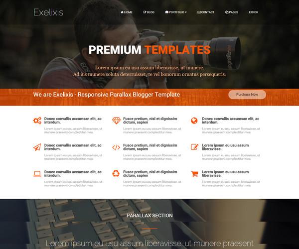 exelixis-Responsive-Blogger-Templates