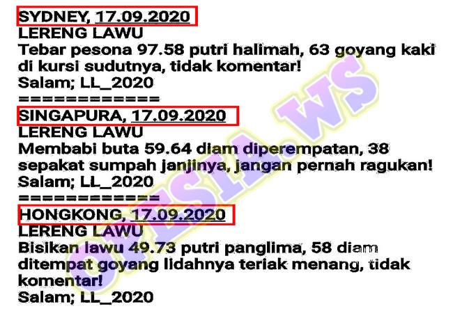 Kode syair Singapore Kamis 17 September 2020 37