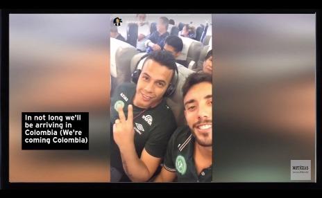 Vídeo: Jogadores do Chapecoense gravam vídeo dentro dentro do avião antes da tragédia