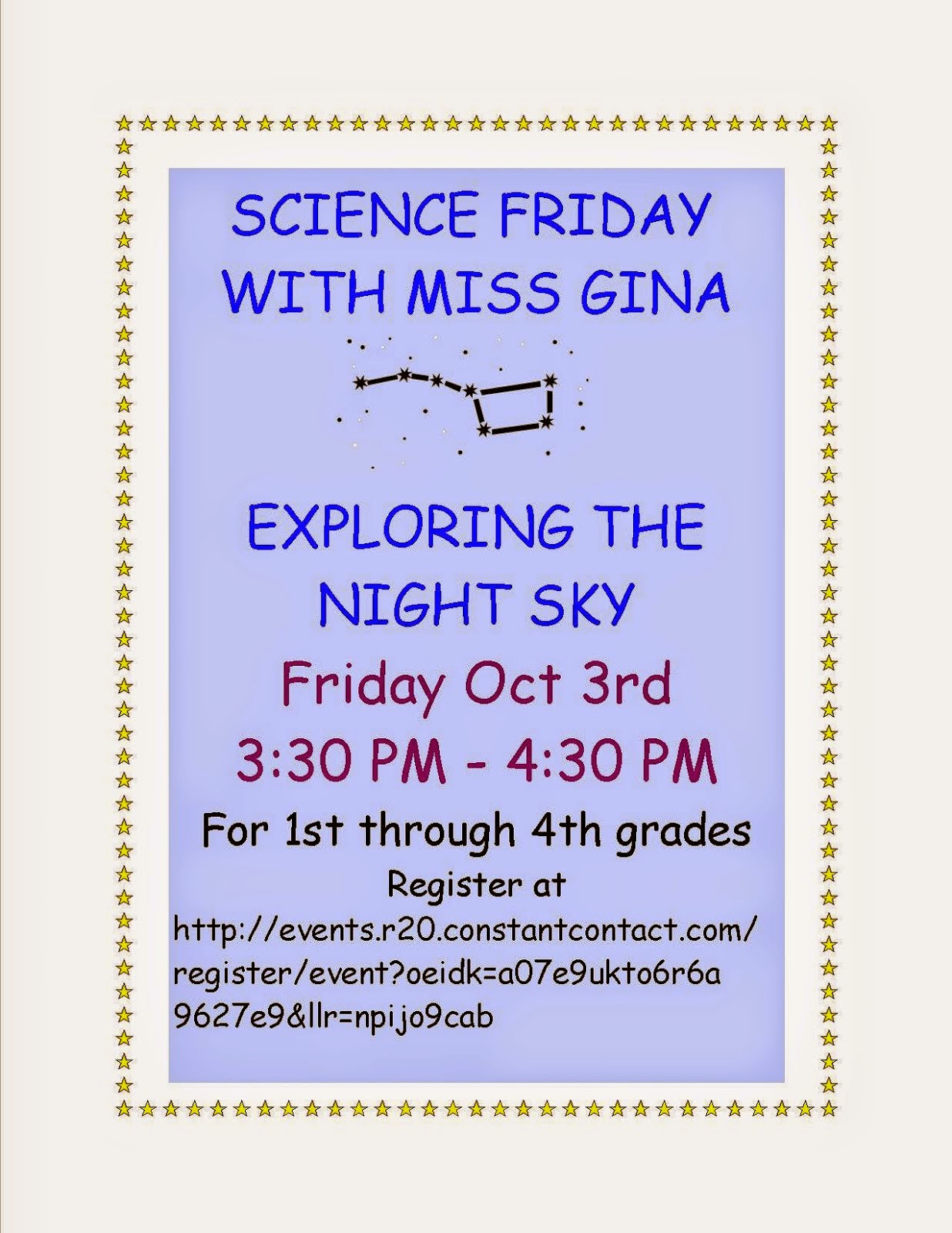 Exploring the Night Sky with Miss Gina