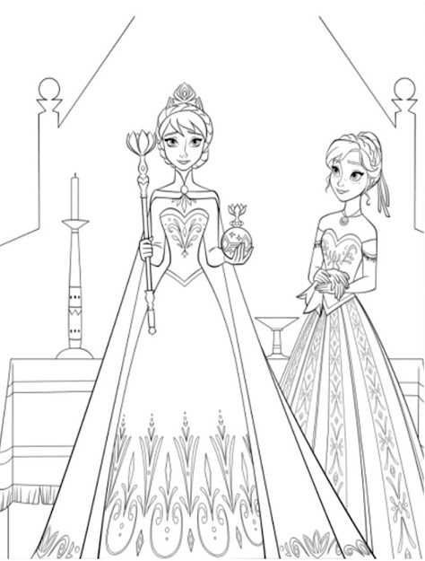 Free Printable Easter Coloring Pages For Girl Collections Disney Frozen  Anna