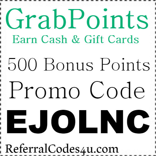 500 Bonus Pts GrabPoints Promo Code, Referral Code, Invite and Reviews 2018-2019