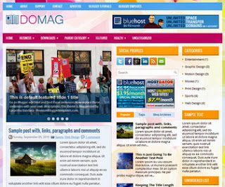 DoMag Free Blogger Template
