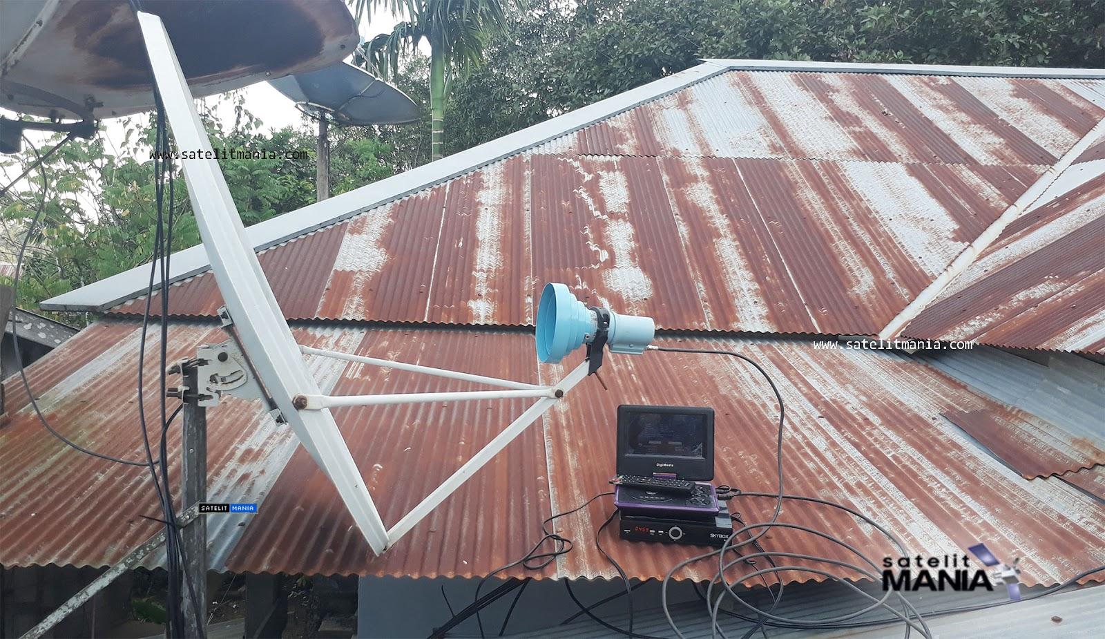 thaicom 5 dengan dish indovision