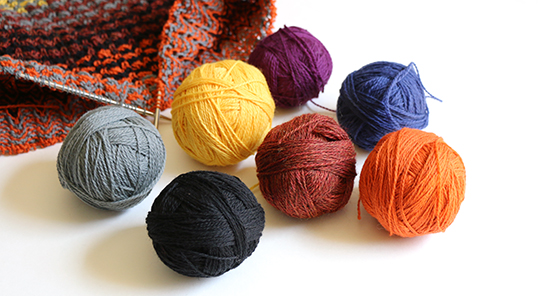 Colorful Balls of Yarn Ready to Knit into a Sweater