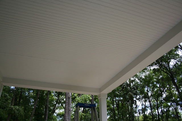 Haint blue porch ceiling with SW Cay | The Lowcountry Lady