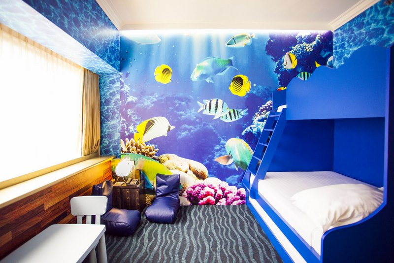 ... There Are Two Other Themes To Choose From   Either Go Deep Sea Diving  With Marine Animals In The Underwater World Themed Room Or Set Off On A  Medieval ...