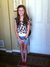 First Day 9th Grade School Girl