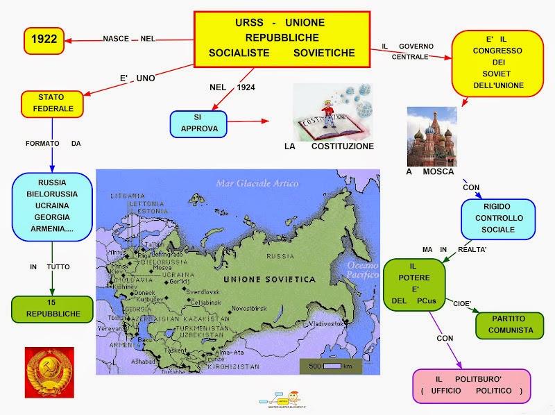 Cartina Urss.Mappa Concettuale U R S S Scuolissima Com