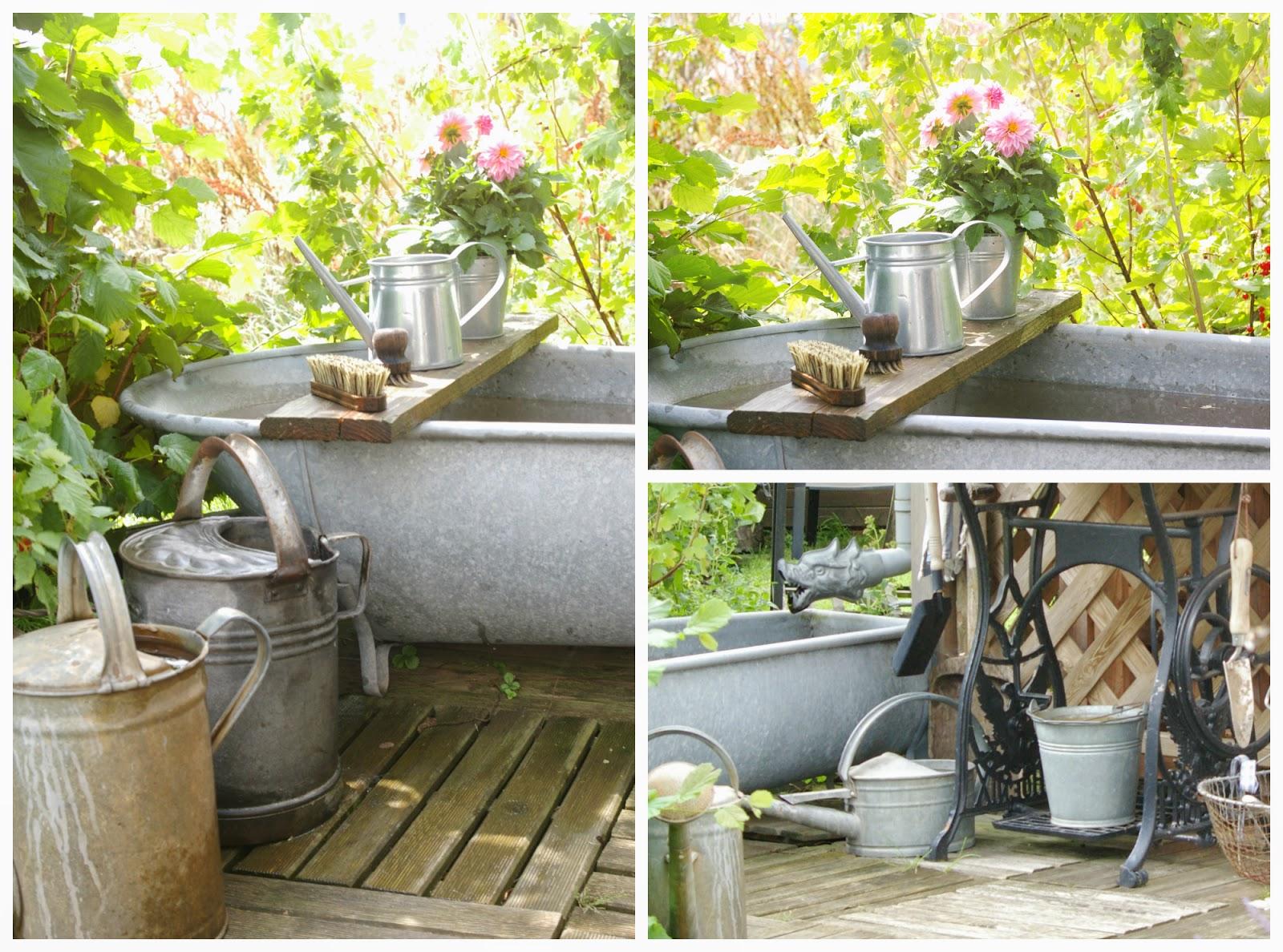 Alte Badewanne Als Deko Im Garten Wohn Design