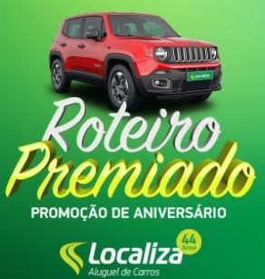 Promoção Localiza 2017 Concorra 1 ano Carro Grátis e Viagem