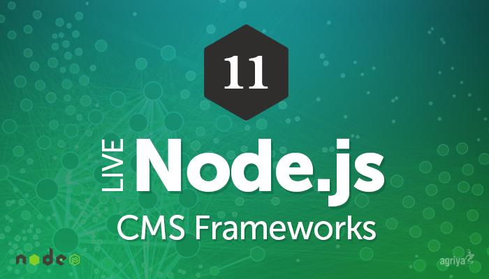 Nodejs CMS Frameworks