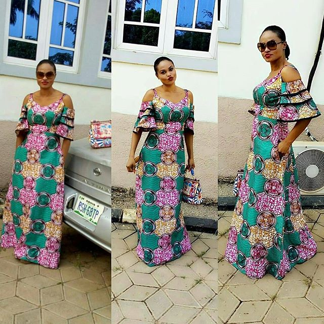 Check Out These Lovely Ankara Long Gowns : Latest Styles From The ...