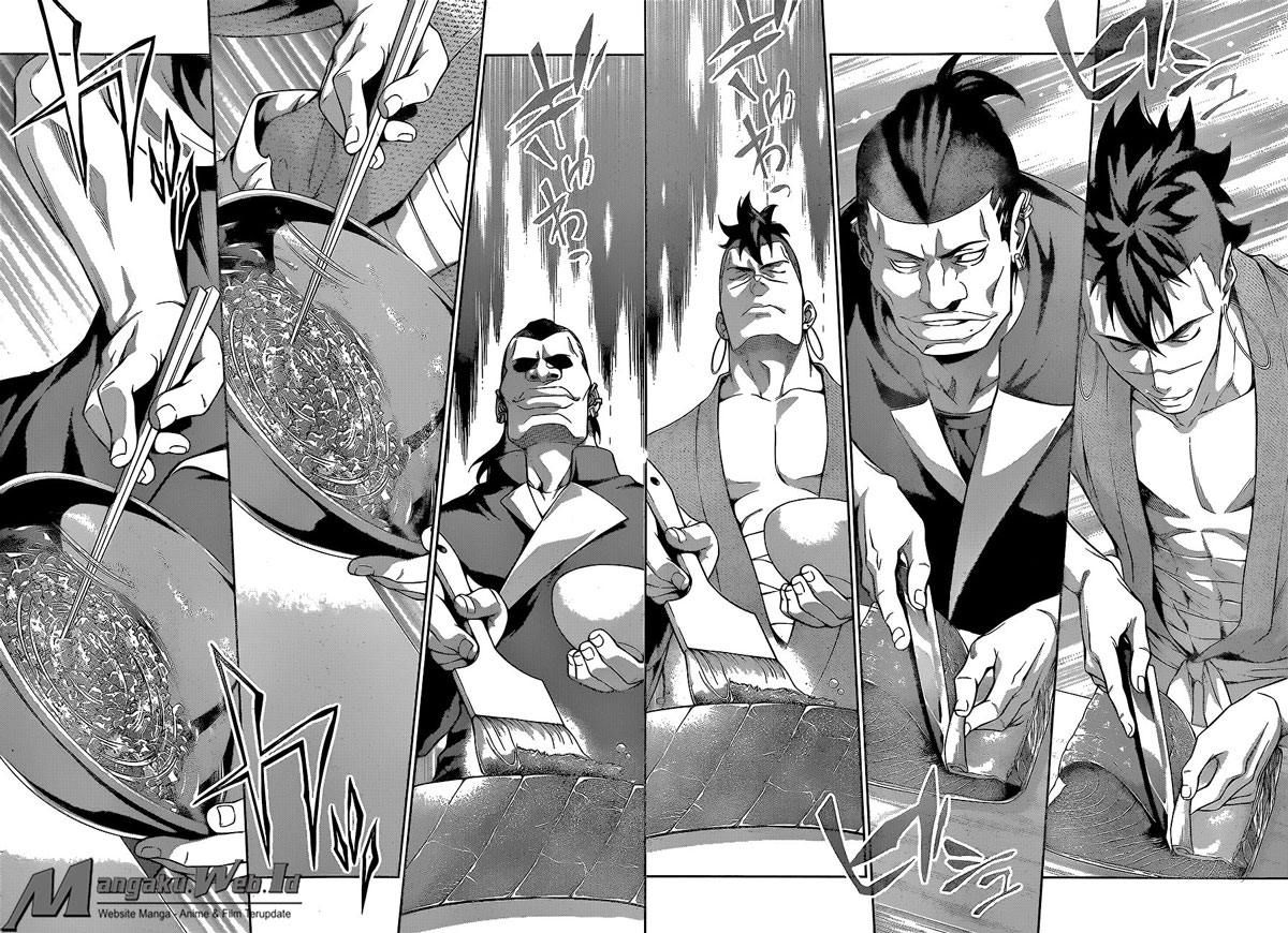 baca Shokugeki no Souma – Chapter 224 : Kilatan Lampu Sorot