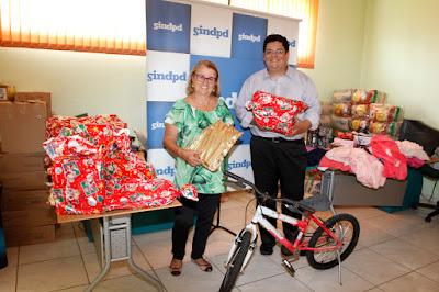 ONG Casa Mater recebe doações da regional do Sindpd em Araraquara