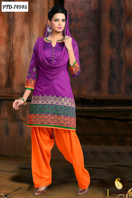 Trendy Indian Heavy Work Party Wear Punjabi Patiala Salwar Suit Online Shopping With Discount