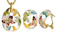 Logo Parure Donna: orecchini e collana smalto con 75% di sconto e spedizioni gratis