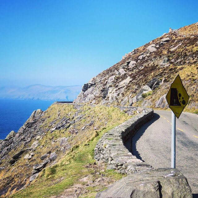St. Patrick's Day Weekend on Dingle Peninsula - curving road, westernmost point in Ireland