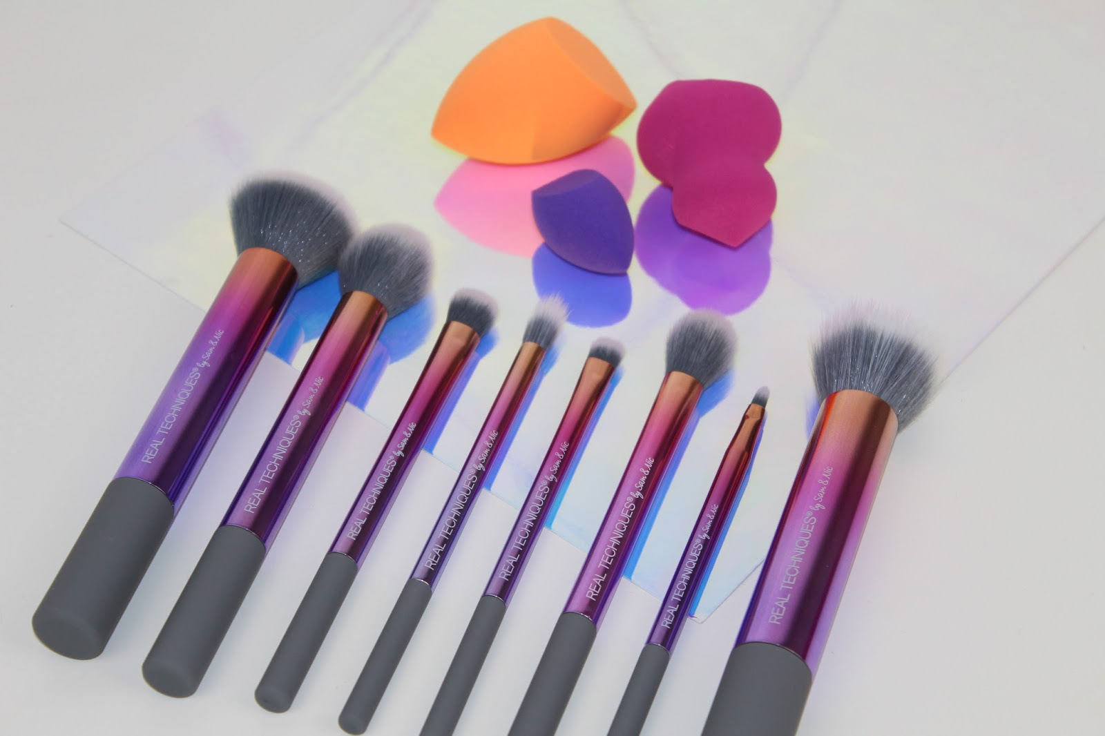 I found all of these brushes easy to use and they for sure helped apply my makeup with ease thanks to their super soft bristles. These are synthetic and I ...