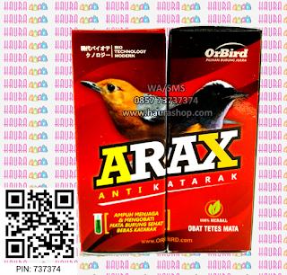 Arax Anti Katarak adalah obat yang bermanfaat untuk mengatasi dan mencegah berbagai penyakit mata. Terbuat dari bahan alami sehingga aman digunakan pada burung