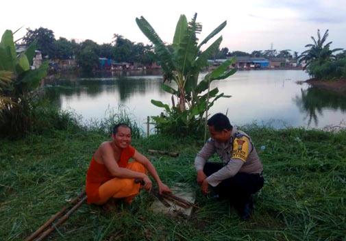 Bhabinkamtibmas Silaturahmi ke Vihara Budhajayanti