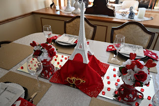 Eiffel Tower Romantic Inspired Valtentine's Day Tablescape